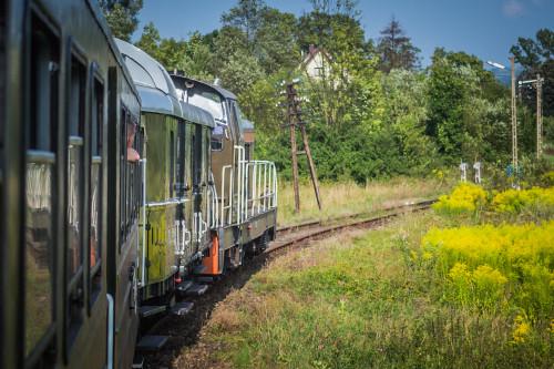 Pociąg transwersalny na trasie